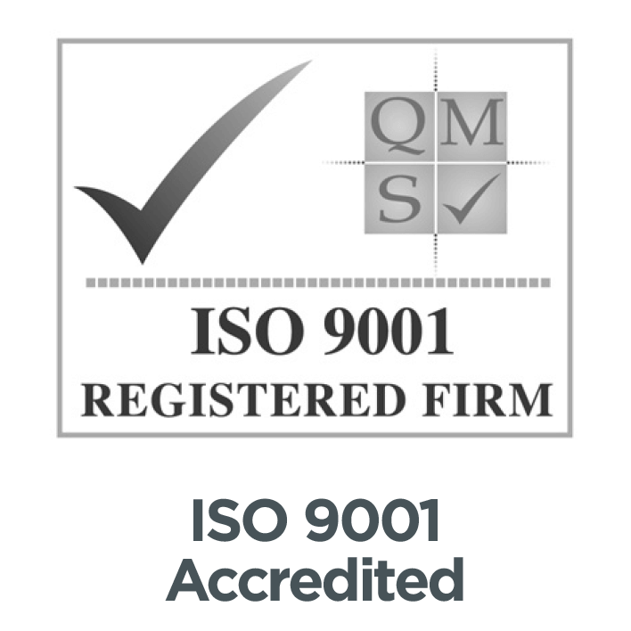 We are ISO 9001 Quality Management Accredited